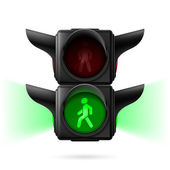 Pedestrian traffic lights — Stock Vector