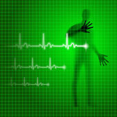 Heartbeat background — Stock Photo