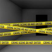 Dark room with danger tape — Stock Vector