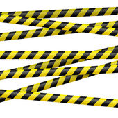 Black and yellow danger tape — Stock Vector