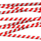 Red and white danger tape — Stock Vector