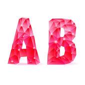 Ruby polygonal font — Stockvektor