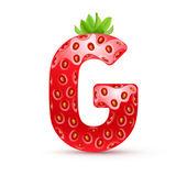 Tasty alphabet — 图库矢量图片