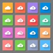 Set of flat cloud icons — Stock Vector #47570467