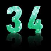 Emerald green polygonal font — Stockvektor