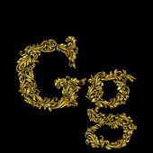 оформленный букву «g» в верхнем и нижнем регистре — Cтоковый вектор