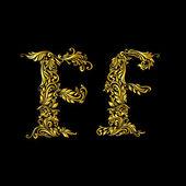 оформленный букву «f» в верхнем и нижнем регистре — Cтоковый вектор