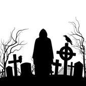 Cemetery — Stock Vector