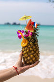 Pineapple coctail — Stock Photo