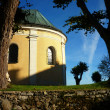 Detail of an old church and monastery — Stock Photo