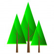 Stock Photo: Set of vector trees.