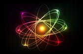 Vector molecule of atom — Stock Photo