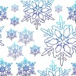 Vector snow flake — Stock Photo