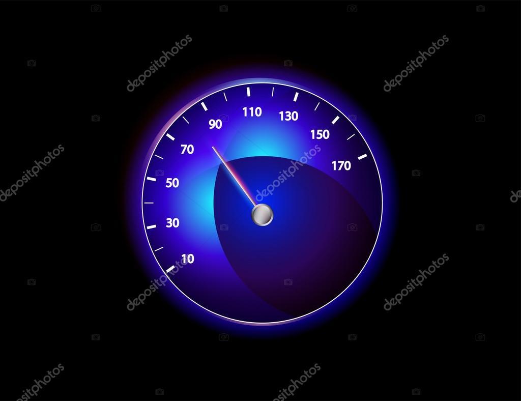 矢量车速表 — 图库照片08x-etra#35075595