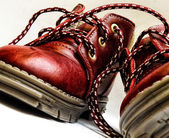Red baby shoes — Stock Photo