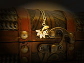 Old treasure chest — Stock Photo