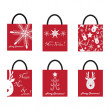 Shoping Bags for Christmas — Stock Vector