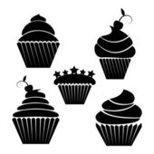 Illusration of cupcakes — Stock Vector