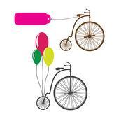 Bicicleta retro — Vector de stock