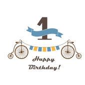 Celebration card for 1st birthday — Stock Vector