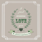 Romantic card in vintage style — Stock Vector