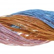 Bundle of pastel cables, friendly network sweet colors — Stock Photo