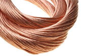 Cavo di rame, industria dei metalli non ferrosi — Foto Stock