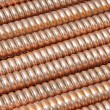 Wave copper cables — Stock Photo