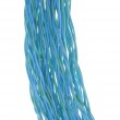 Colorful bunches of blue cables, a global network — Stock Photo
