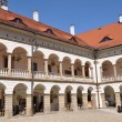 Stock Photo: Renaissance castle courtyard in Niepolomice Poland