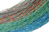 Colorful bunches of cables, a global network — Stok fotoğraf