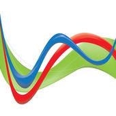 Vector symbol of clean green energy — Stock Vector