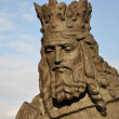 Statue of a medieval king with bronze — Stock Photo #13172602