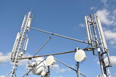 Masts and antenna cellular systems — Stock Photo