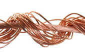 Swirl copper wire isoladed on white background — Stock Photo