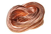 Copper wire isolated on white background — Stock Photo