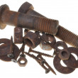 Stok fotoğraf: Corroded screw, washer, bolts and nuts