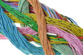 Bundle of cables the flow of information in computer networks — Stock Photo
