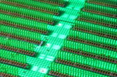 Circuit board abstract city in digital world — Stock Photo