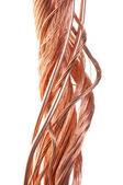 Twisted copper wire isolated on white background — Stock Photo