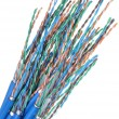 Network cables cat 6 — Stock Photo