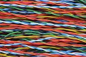Network cables colorful — Stock Photo