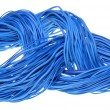 Abstract internet network, blue cables — Stock Photo
