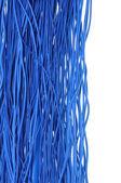 Kablo internet ağı, mavi soyut — Stok fotoğraf