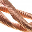 Copper wire, the concept of the energy industry — Stock Photo