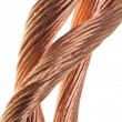 Copper wire, the concept of the energy industry — Foto de Stock
