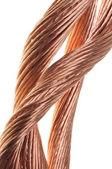 铜导线,能源业的概念 — 图库照片