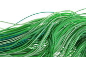 Green energy flow of information in cable networks — Stock Photo