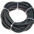 Stock Photo: Corrugated pipe for electrical cables coiled in a circle