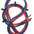 Stock Photo: Blue and red cord
